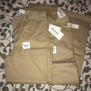 Two pair of brand new boys khakis NWT
